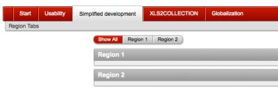 Region Type Display Selector