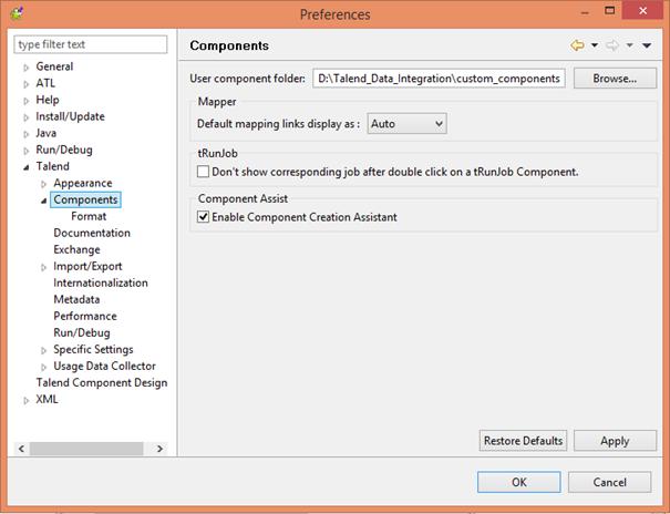 User component folder